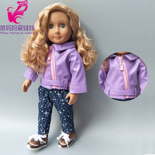 18inch girl doll clothes pants set for 40cm born baby doll outfit for 38cm reborn baby doll coat children gifts(China)
