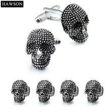 HAWSON Mode Schedel manchetknopen en Studs Set voor Smoking Mens Accessoire Party