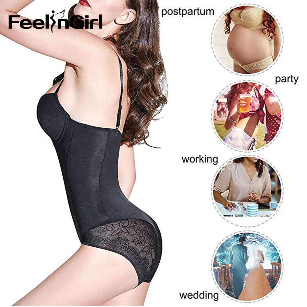 FeelinGirl кружева для похудения формирователь тела пуш-ап восстановление формирующий фигуру корсет пояс контроль живота гимнастический костюм белье Fajas
