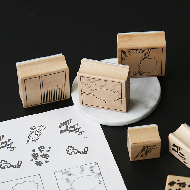 TUNACOCO Japanese Caricature Stamp Seal Sighnet Cartoon Wooden Stamp Bullet Journal DIY Crafts Qt1710136