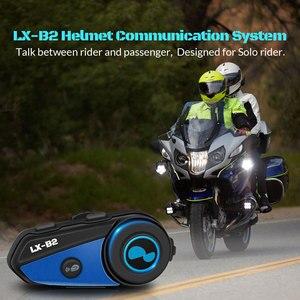 Image 5 - 最新 Lexin B2 オートバイの Bluetooth ヘルメットヘッドセットインターホン BT ワイヤレスインターホン intercomunicador bluetooth パラ motocicleta
