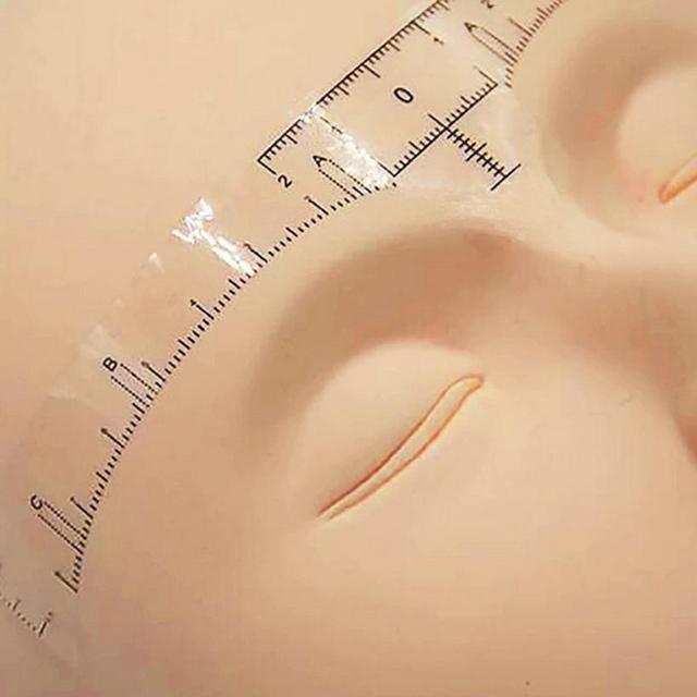 50Pcs Disposable Eyebrow Stencil Makeup Microblading Measure Tattoo Ruler Beauty Tool 2U912 1