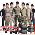 2set acu military uniform multicam combat shirt + tactical pants with knee pad paintball camouflage clothing for hunting clothes