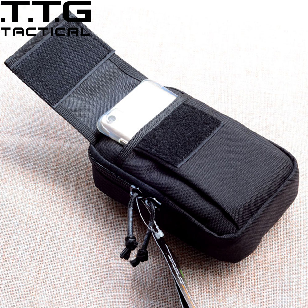 Quality Mens Outdoor Sports Waist Phone Packs MOLLE Tactical Mini EDC Utility Pouch Fits 5.5