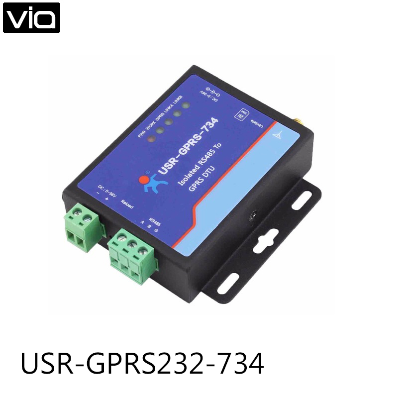 USR-GPRS232-734 Direct Factory High Quality New Arrival RS485 GSM Modems, RS485 to GPRS arduino atmega328p gboard 800 direct factory 7v 23v gsm gprs bt module gsm gprs sim800 quad band development board