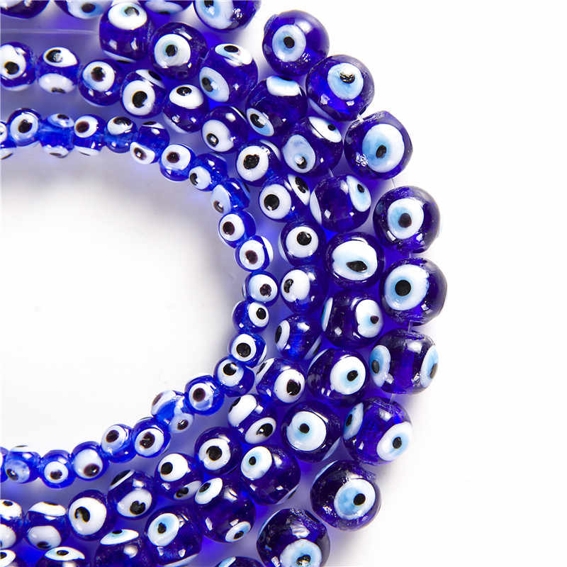 Wholesale 4/6/8/10/12/14mm Turkey blue evil eyes beads glass beads for DIY Jewelry Making Finding bracelet necklace