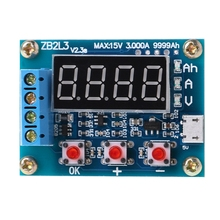 ZB2L3 Li-ion Lithium Battery Capacity Tester Resistance Lead-acid Battery Capacity Meter Discharge Tester Analyzer battery capacity tester battery internal resistance tester data line tester measuring mobile power