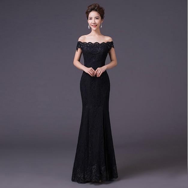 Popular Long Black Formal Dresses Plus Size-Buy Cheap Long Black ...