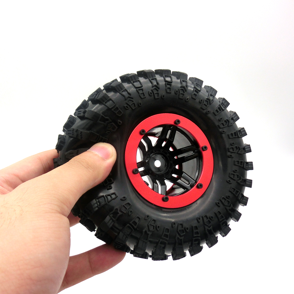 4PCS 2.2 Air Pneumatic Tires & Beadlock Wheel Rim for 1:10 RC Rock Crawler SCX10 AX10 Wraith 90056 90045 90031 YETI 90026 90025 4pcs rc crawler truck 1 9 inch rubber tires