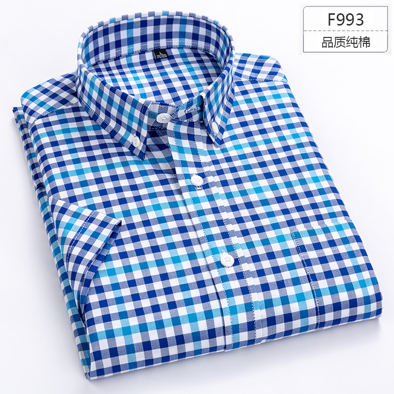 Image 5 - Plus Size 5XL 6XL 7XL 8XL Solid Color Full Cotton Thin Short Sleeve Men Shirt Casual Business Formal White Blue Shirt For Fat-in Dress Shirts from Men's Clothing