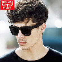 f31eb5d593e TRIUMPH VISION Male Polarized Sunglasses Men Brand Black Square Shades UV400  Polaroid Sun Glasses For Men Cool Oculos Lunette