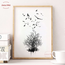 Landscape Tree Canvas Painting Poster, Wall Pictures for Living Room, Giclee Print Decoration Pictures S16044