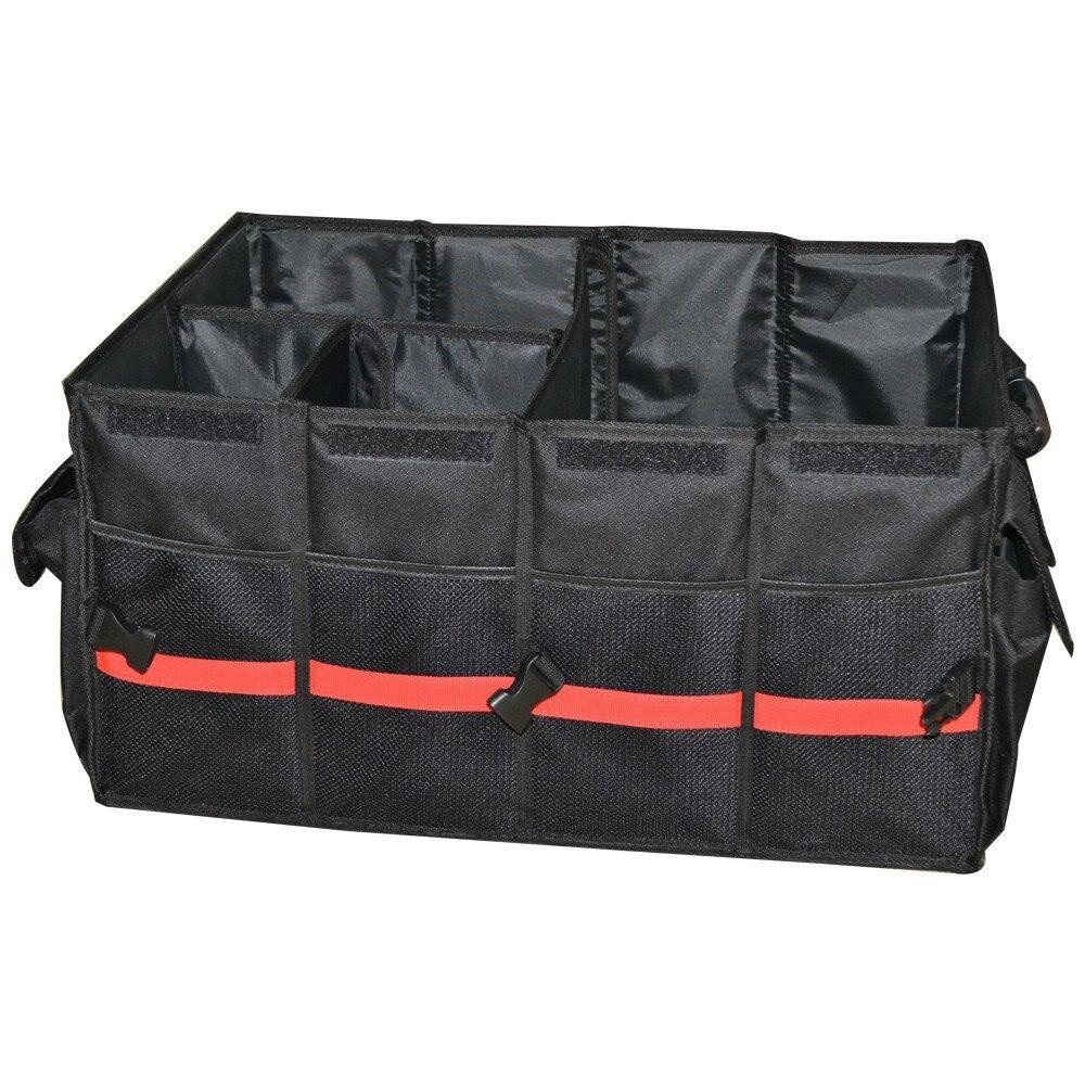 1 pc lantsun J289 Folding Car Storage Box Waterproof black Portable Multi-Use Tools Organizer Storage Holder Cargo Bag portable car vehicle storage organizer holder nylon net pouch bag black