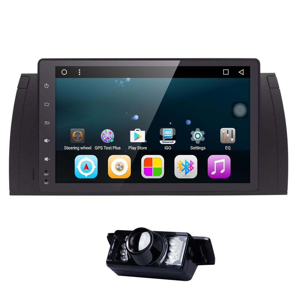 imágenes para 9 pulgadas Android 6.0 Quad Core 1G RAM GPS Reproductor de DVD Del Coche de Cinta grabadora de Radio Wifi Para BMW X5 E53 M5 E38 E39 2002 2003 Gama Rover