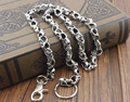 Mens Biker Trucker Heavy Skull Long Metal  Wallet Chain 31""