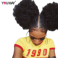 Afro Kinky Curly 250 Density Lace Front Human Hair Wigs 13x6 Deep Part Brazilian Lace Front Wigs For Women Remy Hair You May