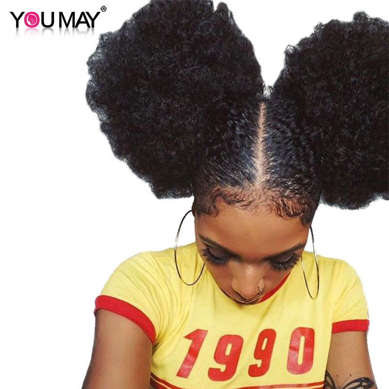 Enthusiastic Afro Kinky Curly 250 Density Lace Front Human Hair Wigs 13x6 Deep Part Brazilian Lace Front Wigs For Women Remy Hair You May Curing Cough And Facilitating Expectoration And Relieving Hoarseness Human Hair Lace Wigs