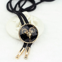 Black Exaggerated Oxhead Bolo Tie Necklace Men Women Fashion Casual Clothing Accessories Wedding Wholesale Retail