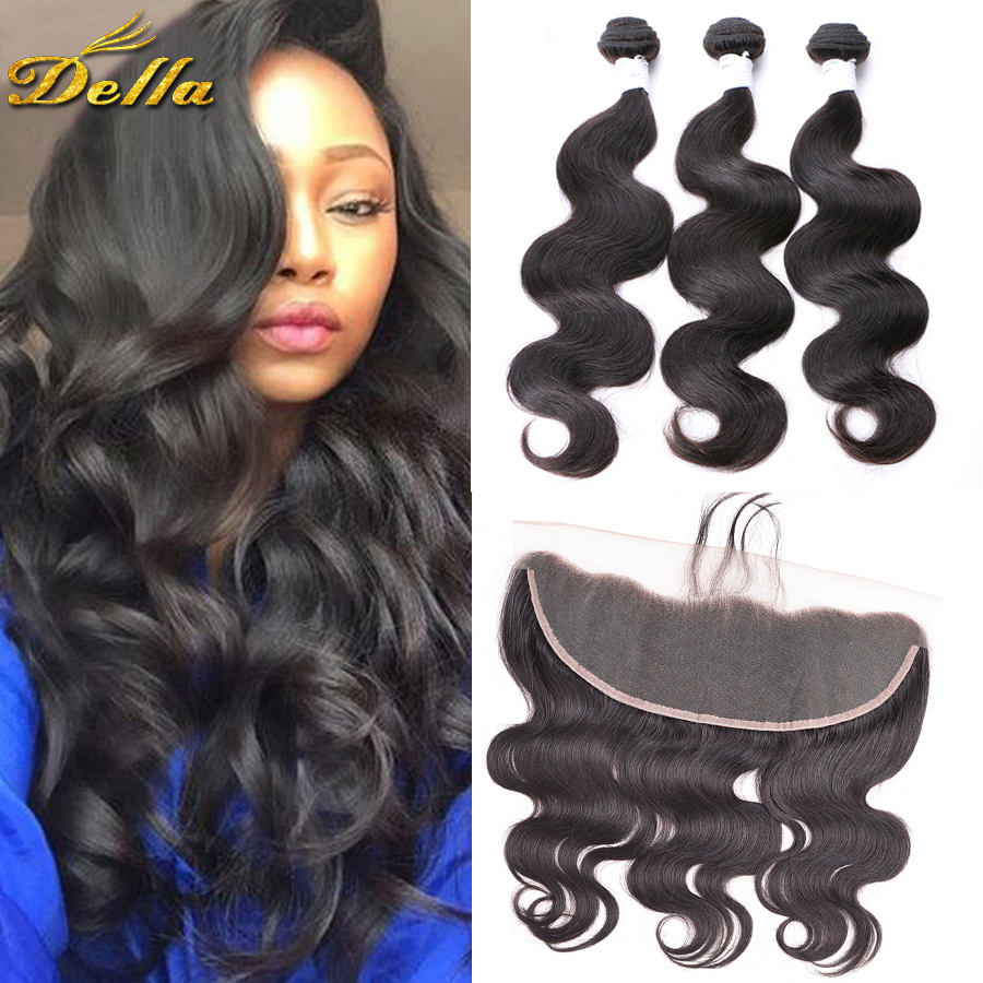7A Brazilian Body Wave Closure 13×4 Ear to Ear Lace Frontal Closure with Bundles Black Friday Deals Brazilian Human Hair Weave