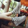 Хан издание осенью кроссовки женские толстым дном обувь дышащая круглая голова отдыха обуви губка одного обувь в2