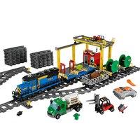 Lepin City the RC Cargo Train 02008 02009 02039 Compatible Legoinglys Building Blocks 60052 Rail Train Technic Toys for Children