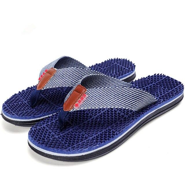 77a986dce2754 Men Slippers Summer Flat 2018 Summer Men Shoes Breathable Beach Slippers  Wedge Black White Flip Flops Men Brand Slides Slippers