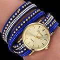 2017 Nueva Marca de Moda de Cuero Llegando reloj Ginebra reloj Pulsera mujer de Cristal de Cuarzo Vestido relojes relogio feminino Reloj