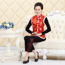 купить Wholesale Brand New  Autumn Winter Chinese Traditional Women's Coil Button Waistcoats Vests  M L XL XXL 3XL  MTJ2015058 по цене 1392.51 рублей