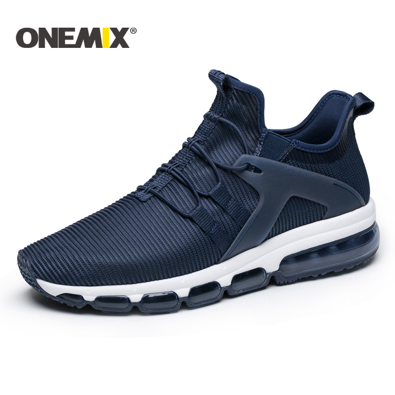 Onemix New running shoes men Air cushion breathable mesh sneakers outdoor walking trekking shoes women sports sneakers for men women sneakers men running winter thermal shoes ultra light damping air sole walking outdoor training sports shoes plus 36 45