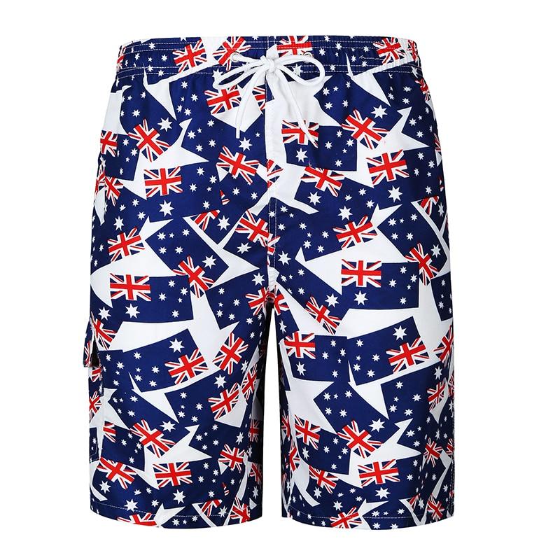 Shorts Mens Bermuda 2018 Summer National Flag Print Men Beach Hot Cargo Men Boardshorts Male Brand MenS Short Casual Fitness