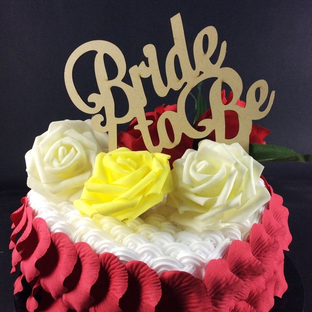 high quality bride to be cake decoration letter cake topper wedding ...