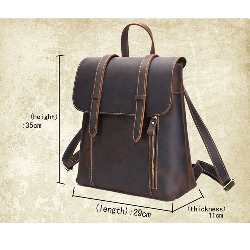 29f57214f593 AETOO New men s bag retro crazy horse leather men s shoulder bag first  layer leather backpack leather travel backpack-in Backpacks from Luggage    Bags on ...