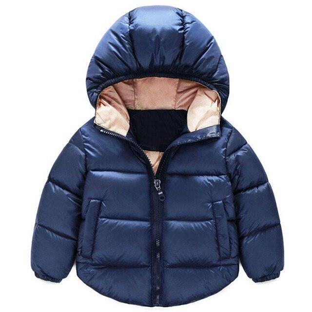 2016 Новых Детей Вниз Парки Детская одежда Зима Толстые теплые мальчики девочки куртки и пальто детские тепловой лайнер вниз верхняя одежда 2-6 Т