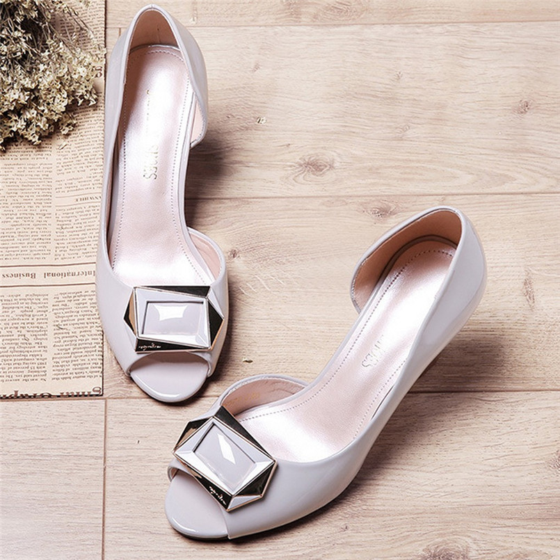 Chaussures Shoes Woman Party High-Heels Thick Fish-Mouth Fashion Women's Summer Casual