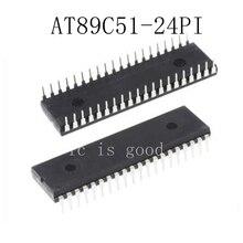 20pcs lots AT89C51 24PI AT89C51 24PU AT89C51 DIP 40 New original IC In Stock