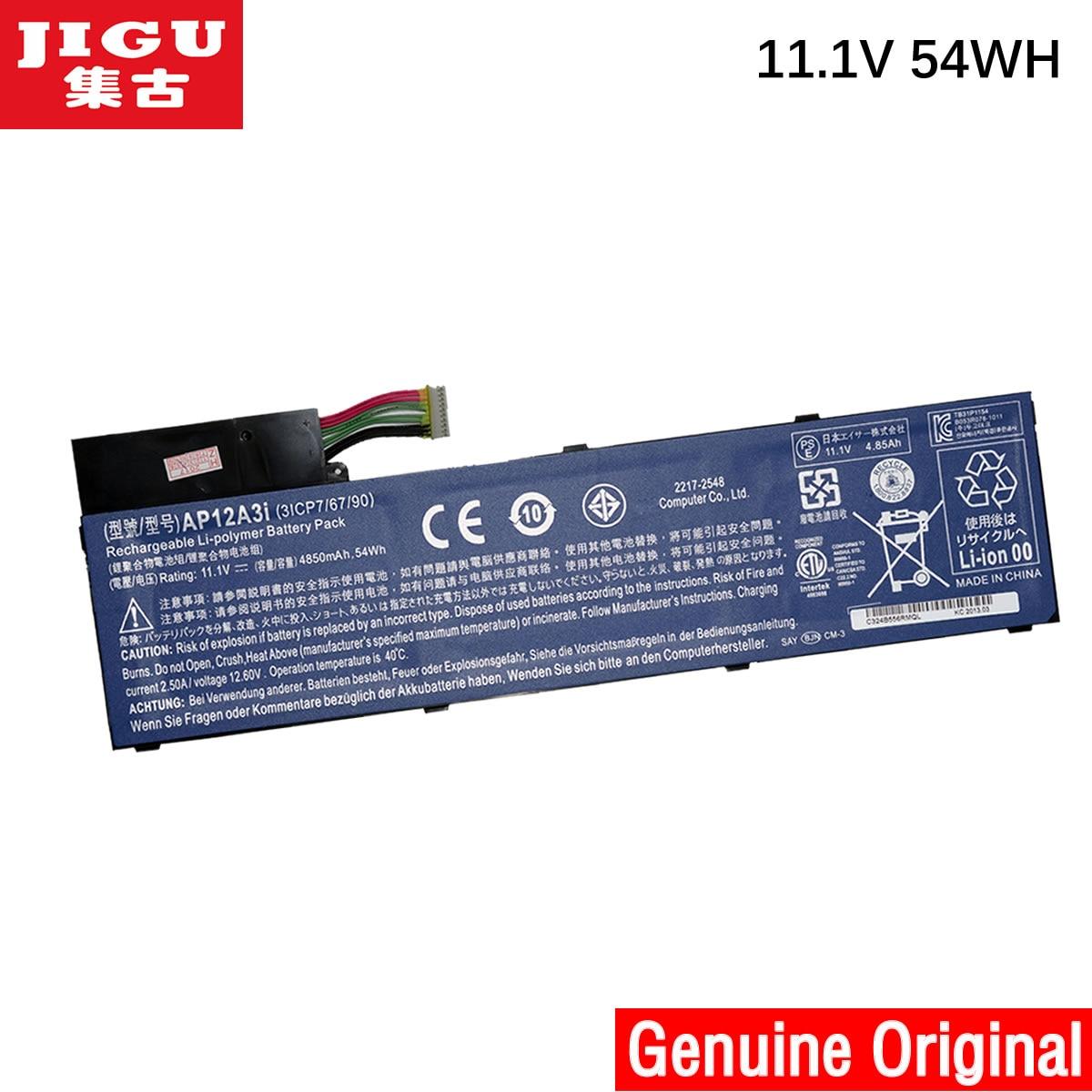JIGU AP12A3I Original Laptop Battery For ACER Aspire Timeline Ultra M3 M5 M3-581 M5-481 M5-581 AP12A4i M3-581TG тренога для походного котла kukmara т03