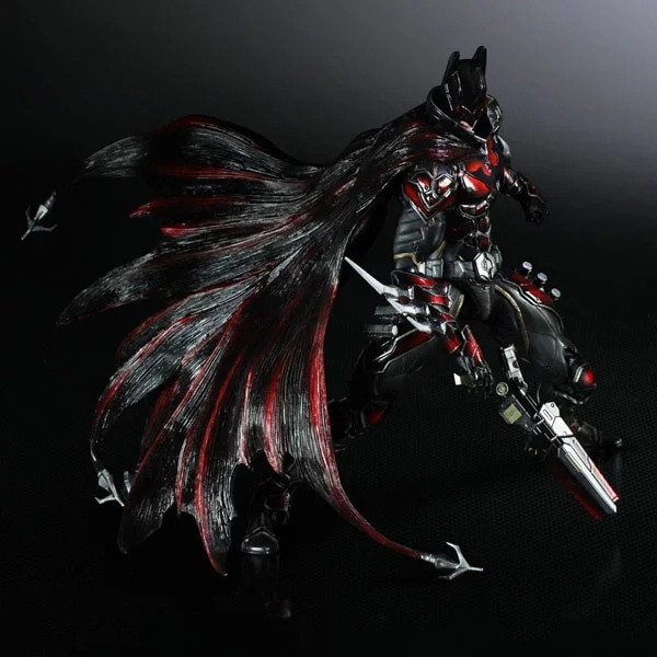 Movie Figure 26 CM BPLAY ARTS KAI Batman Variant Red Vlack Limited Ver. Variable Batman PVC Action Figure Collectible Model Toy playarts kai batman arkham knight batman blue limited ver brinquedos pvc action figure collectible model doll kids toys 28cm