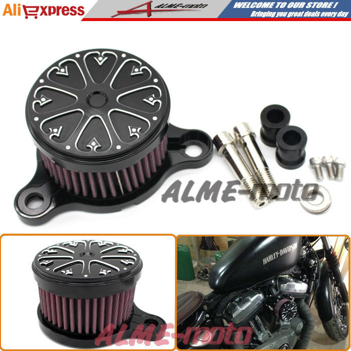 ФОТО Air Cleaner+Intake Filter System RC Case For Harley sportster XL883/1200 04'-UP air filter