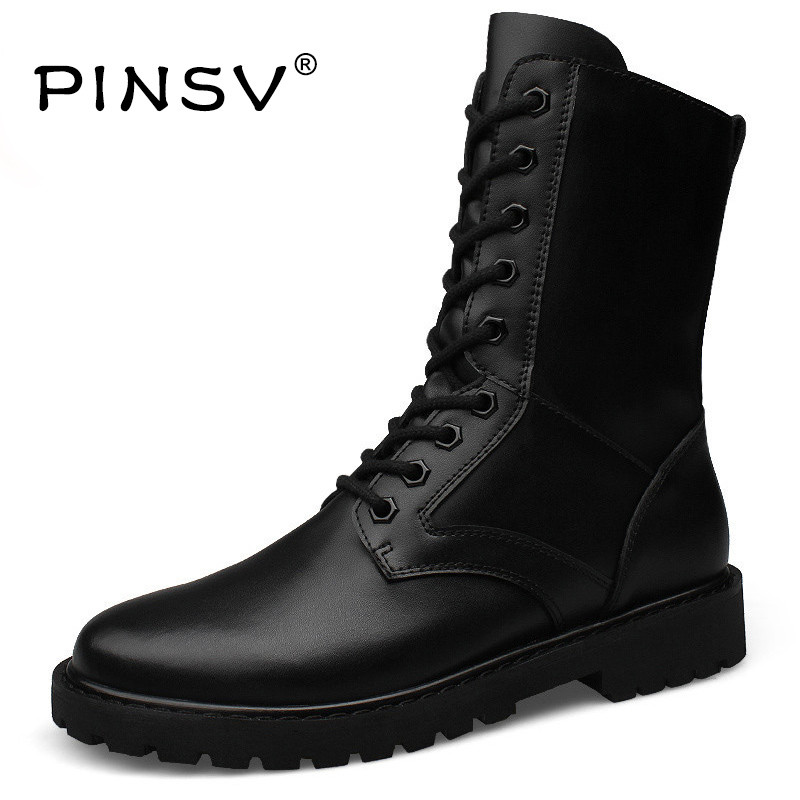 Big Size 48 Winter Military Boots Men Cow Split Leather Tactical Boots Men Winter Shoes Men Fur Army Boots Chaussure Homme
