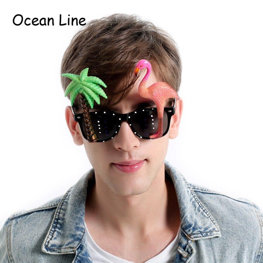 재미 장식용 플라밍고 비치 파티 마이애미 스타일 의상 선글라스 반짝이 해변 안경 이벤트 파티 용품 장식