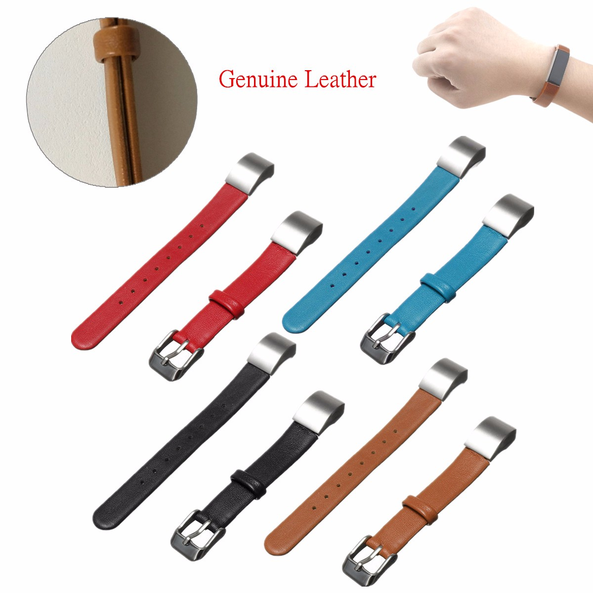 Replacement Watchbands Luxury Double Tour Genuine Leather Watchband Strap Bracelet For/Fitbit Alta Smart Watch Wrist Bands Strap replacement genuine leather wrist watchband strap for huawei talkband b3 watch