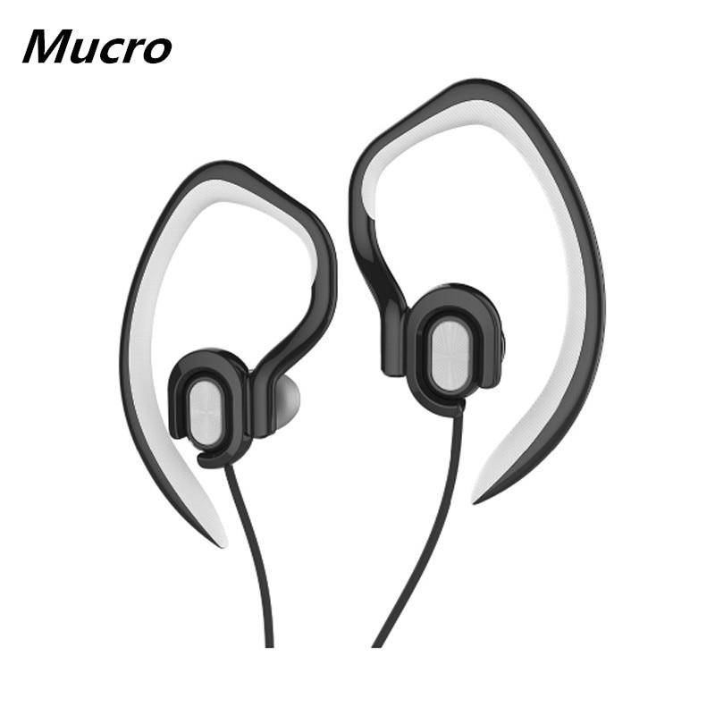 Sports Earhook Headphones In Ear Headphones Noise Reduction Waterproof Earphone Stereo 3.5mm Jack Headphone with Mic for Running