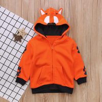 Boys Spring Autumn Coat Cartoon Design Cardigan Jacket Casual Outerwear For Boys 2 6Years Hooded Hoodies