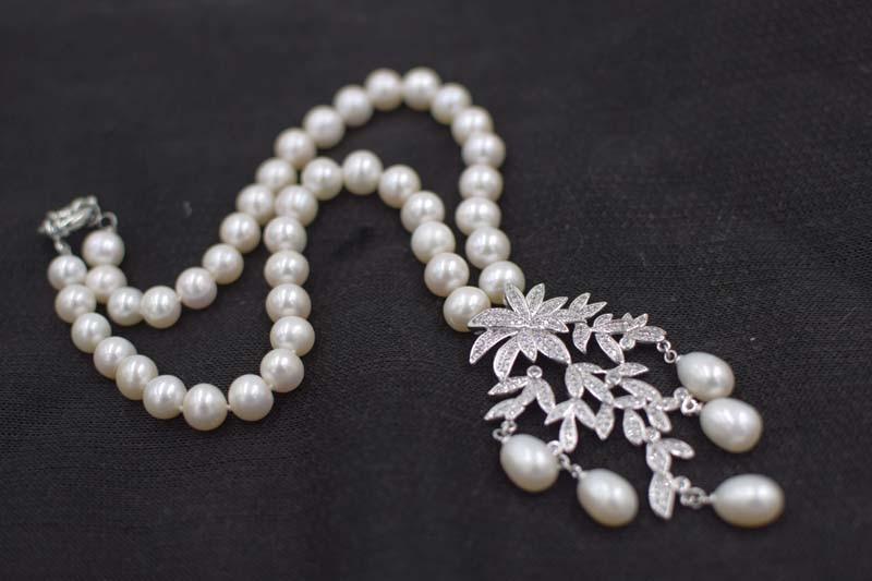 քաղցրահամ ջրերի մարգարիտ սպիտակ 9-1`0 - Նուրբ զարդեր - Լուսանկար 4