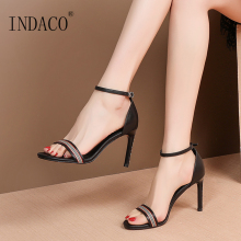 Sandals Women Summer Shoes Footwear Open Toe Thin High Heel Party 9cm