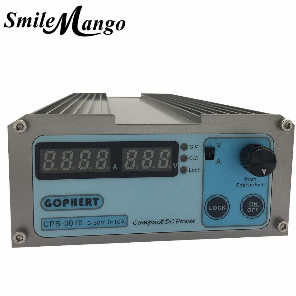 Nouveau CPS-3010 30 V 10A précision numérique réglable DC alimentation commutable 110 V/220 V avec OVP/OCP/OTP DC puissance 0,01a 0.1 V