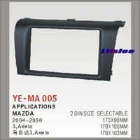 Liislee 2 DIN ABS Plastic Frame Radio Fascia For Mazda 3 Axela 2004~2009 Auto Stereo Interface Dash CD Trim Installation Kits