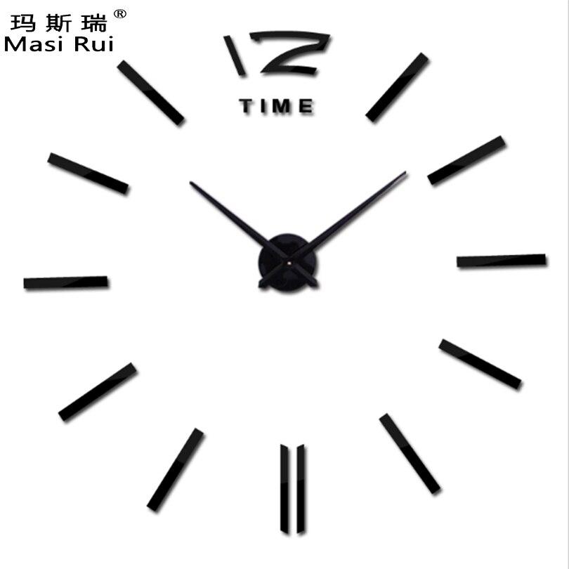 Новинка 2017 продажи часы настенные часы Reloj де сравнению часы 3D DIY акриловые зеркало Наклейки кварцевые современные украшения дома Бесплатная доставка