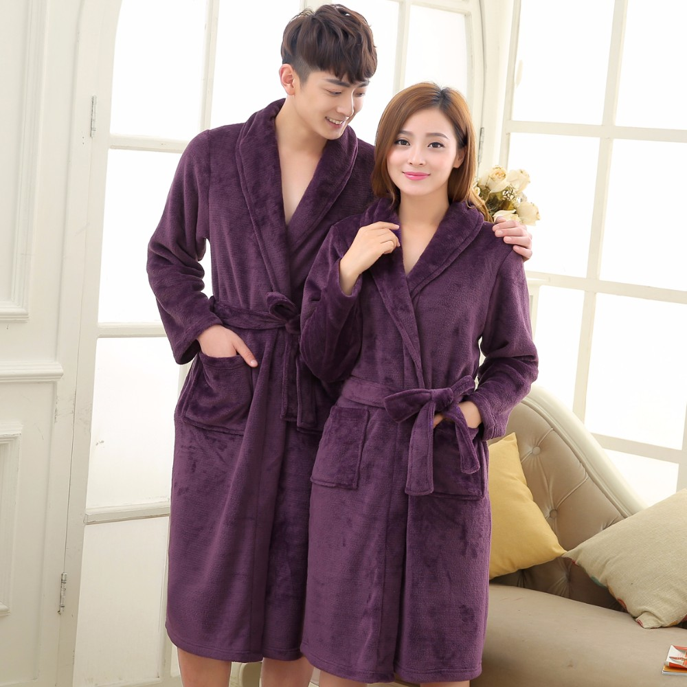 Long Robe Coral Fleece Main