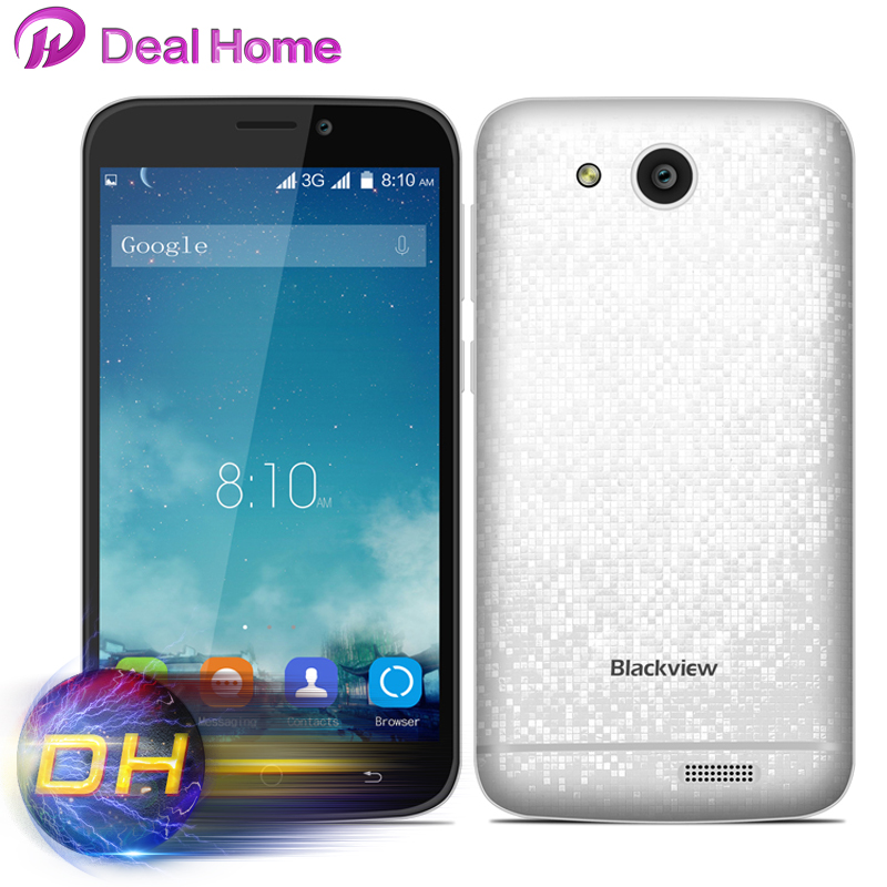 Original Blackview A5 Mobile Phone 3G Smartphone Android 6.0 4.5 MTK6580 Quad Core 1.3GHz 5MP Camera Cheap Cell Phone